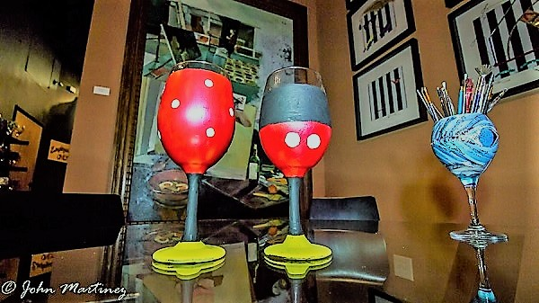 Freestyle Wine Glass Painting