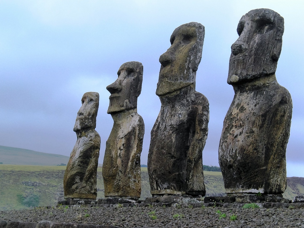 Easter island heads in chile
